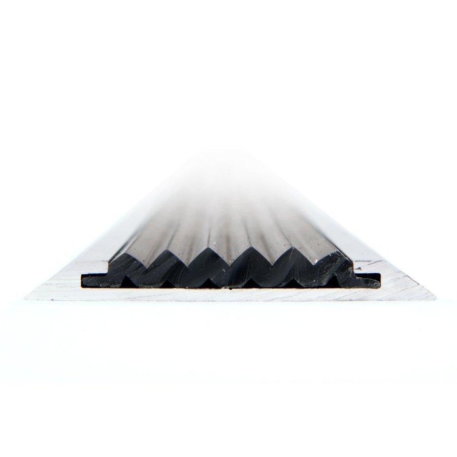 Černá hliníková schodová lišta s protiskluzovým páskem Antislip, FLOMAT - délka 100 cm, šířka 5,3 cm a výška 0,6 cm
