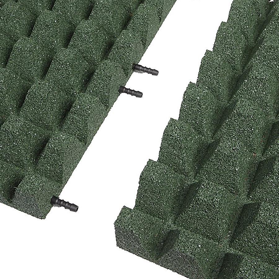 Zelená gumová krajová deska (V65/R50) - délka 50 cm, šířka 25 cm a výška 6,5 cm