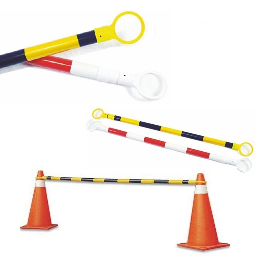 Bílo-červená vymezovací tyč k dopravním kuželům - délka 115-250 cm