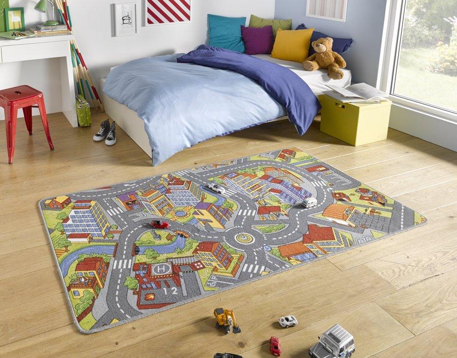 Různobarevný dětský kusový koberec Play