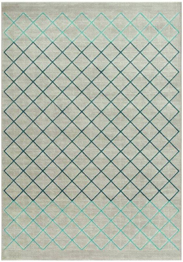 Šedý moderní kusový koberec Patina - délka 170 cm a šířka 120 cm