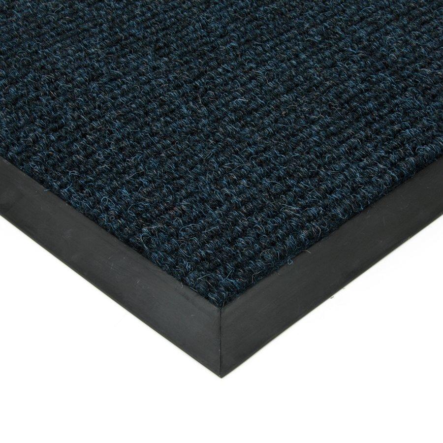 Modrá textilní zátěžová čistící vnitřní vstupní rohož Catrine, FLOMAT - délka 1 cm, šířka 1 cm a výška 1,35 cm