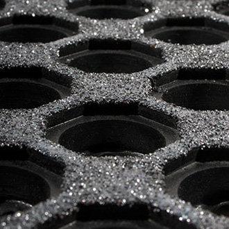 Černá gumová olejivzdorná protiskluzová protiúnavová průmyslová modulární rohož Fatigue - délka 90 cm, šířka 90 cm a výška 1,6 cm