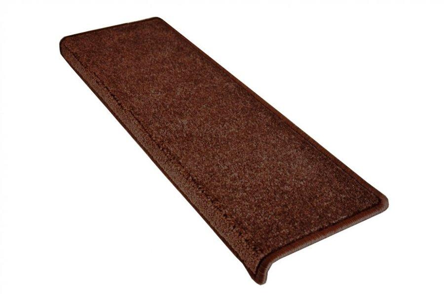 Hnědý kobercový nášlap na schody Eton - délka 24 cm a šířka 65 cm