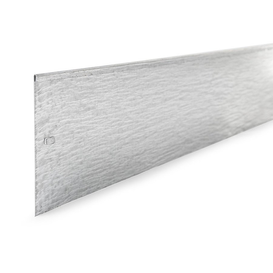 Stříbrný neviditelný pozinkovaný zahradní obrubník - délka 100 cm a výška 14 cm