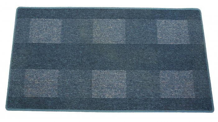 Modrý kusový koberec Dijon
