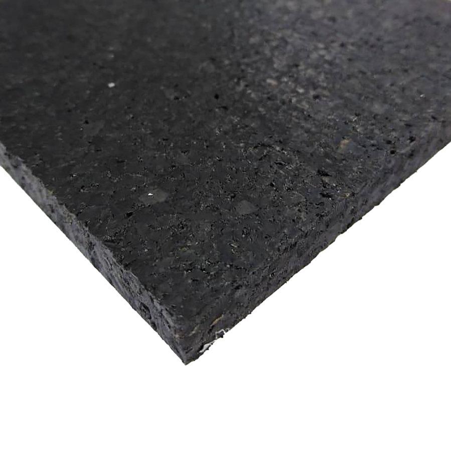 Černá pryžová deska SF1100 - délka 198 cm, šířka 98 cm a výška 1 cm
