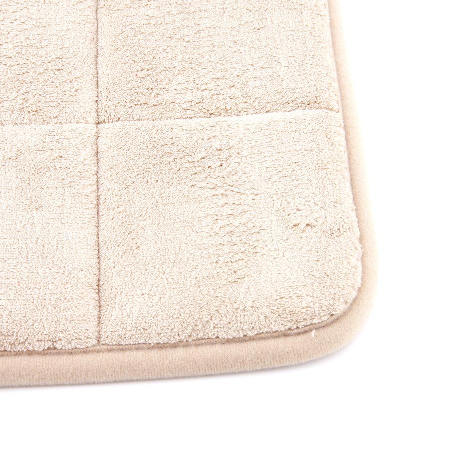 Béžová pěnová koupelnová předložka - délka 85 cm a šířka 53 cm