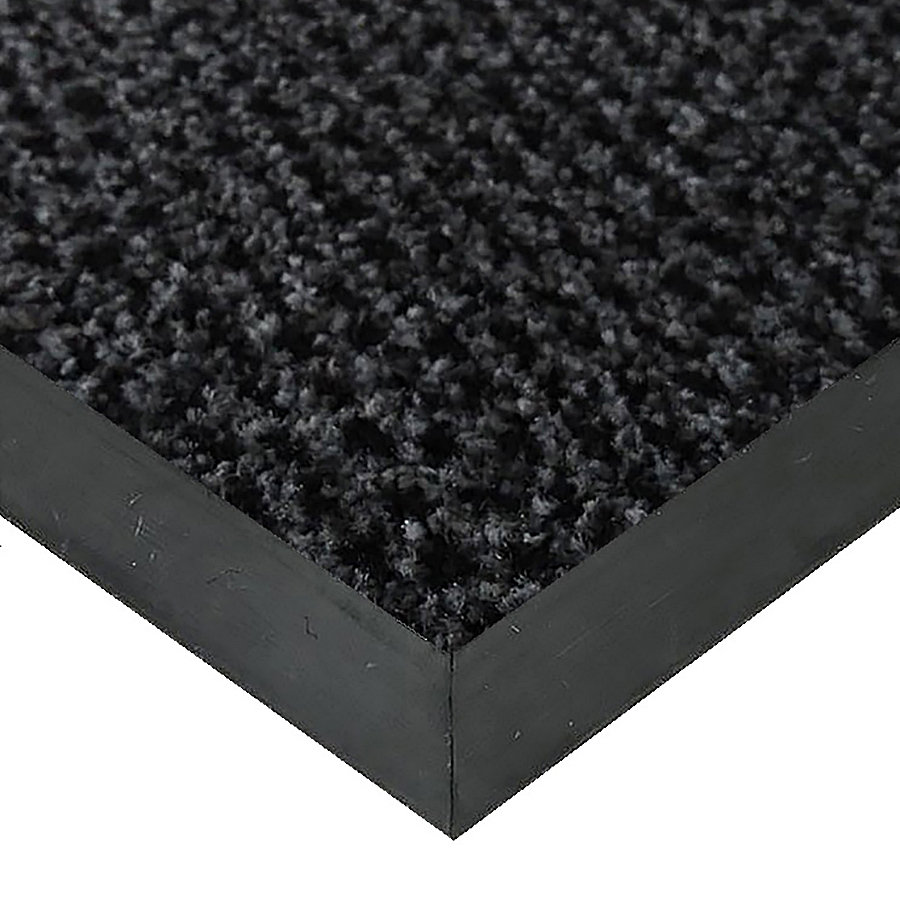 Šedá textilní vstupní vnitřní čistící rohož Alanis, FLOMAT - délka 80 cm, šířka 120 cm a výška 0,75 cm