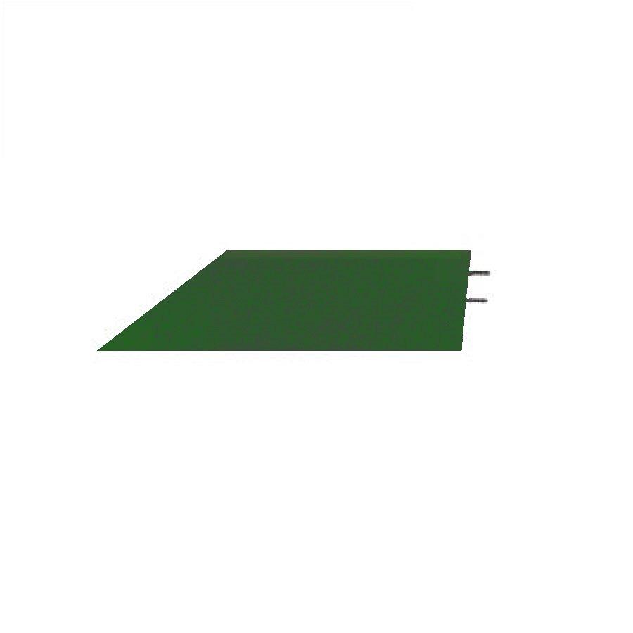 Zelený pravý nájezd (roh) pro gumové dlaždice - délka 75 cm, šířka 30 cm a výška 4 cm
