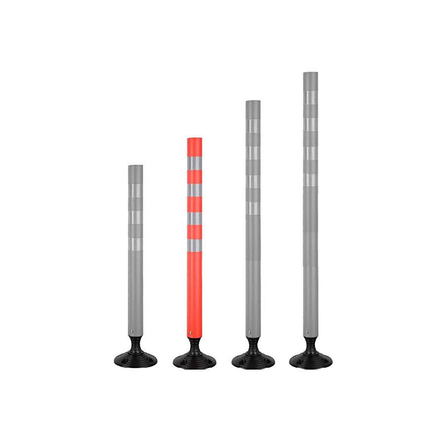 Plastový samonarovnávací reflexní dopravní sloupek - průměr 7 cm a výška 100 cm