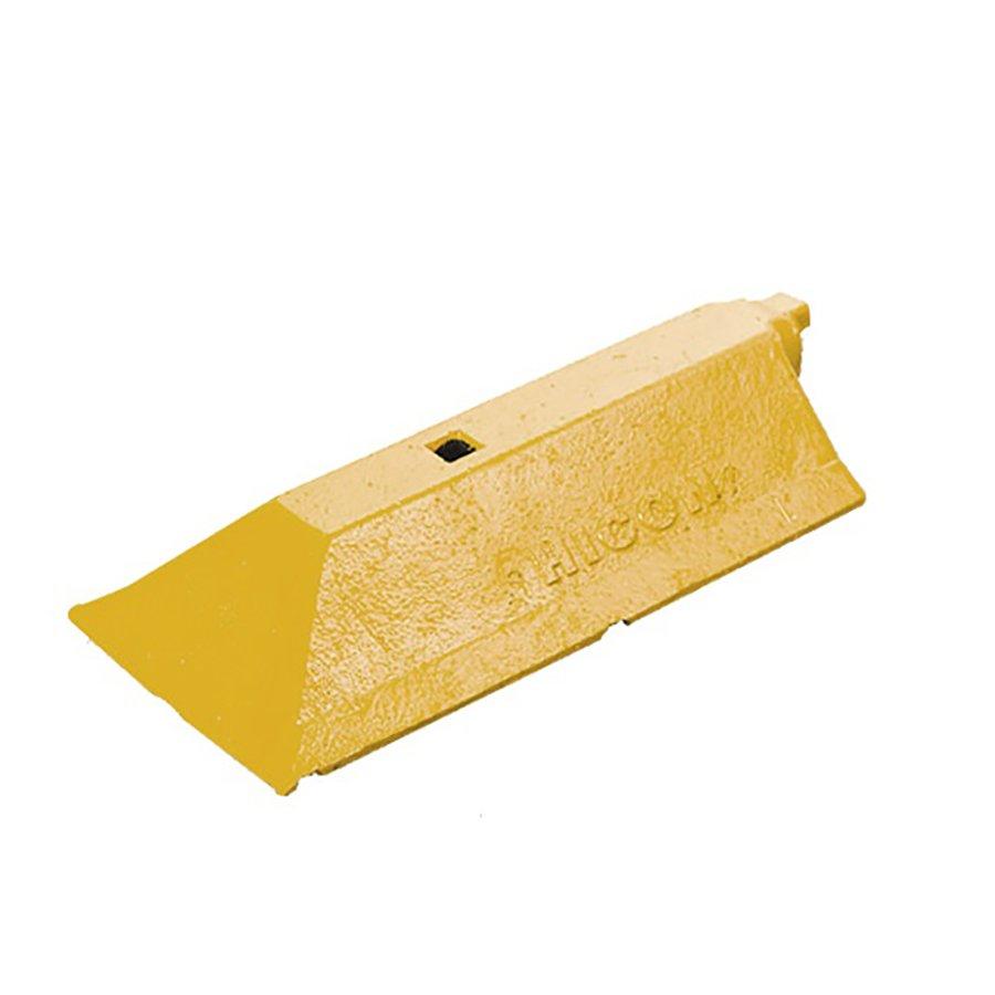 """Žlutá plastová koncovka """"samec"""" pro vodící prahy """"CZ 3"""" - délka 49 cm, šířka 24,8 cm a výška 9 cm"""