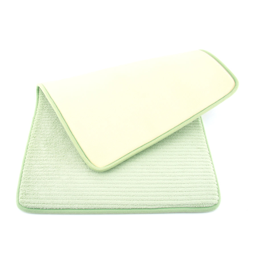Zelená pěnová koupelnová předložka - délka 81 cm a šířka 51 cm
