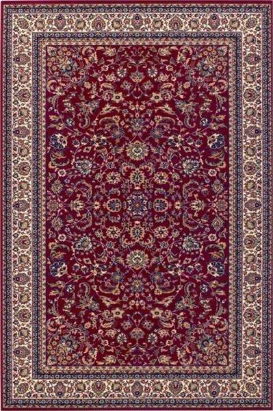 Červený kusový luxusní orientální koberec Saphir