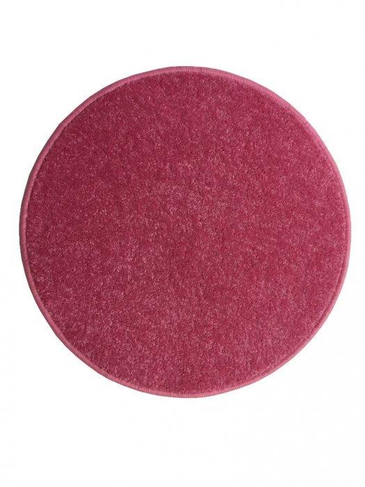 Růžový kusový koberec Eton