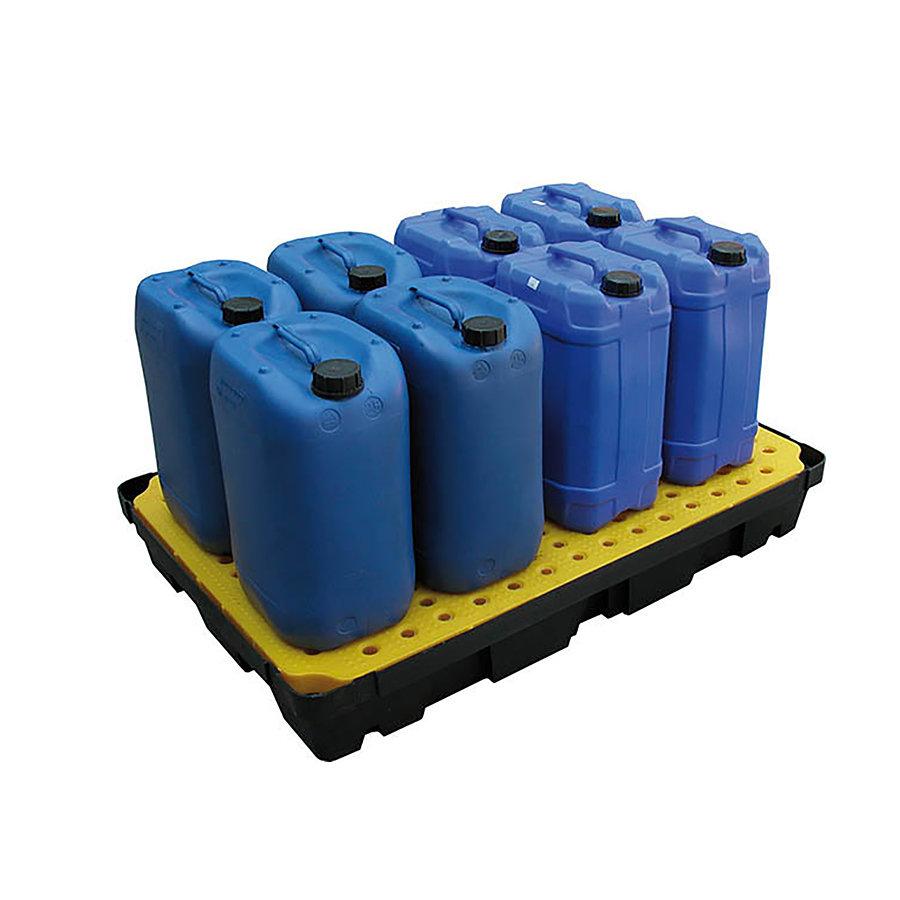 Plastová záchytná vana s roštem - délka 120 cm, šířka 80 cm a výška 17,5 cm