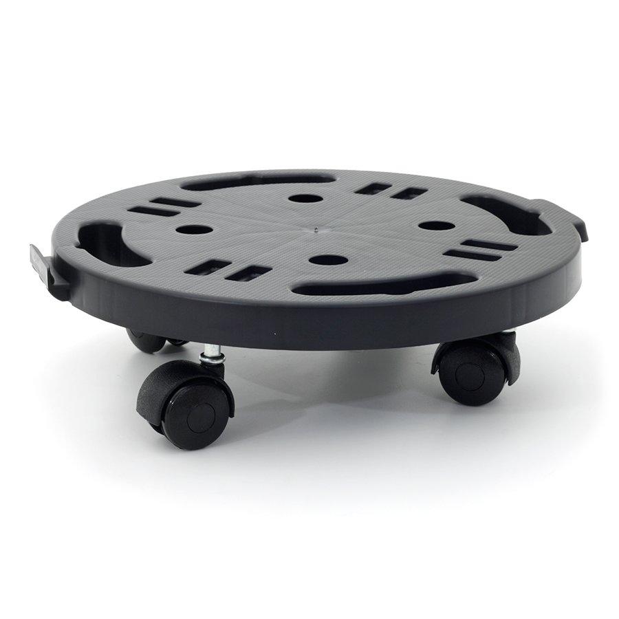 Černá plastová transportní stěhovací plošina Linea Dolly - nosnost 170 kg, průměr 28 cm a 7 cm