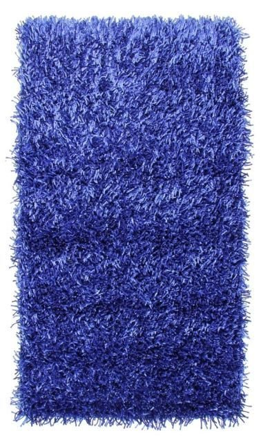 Modrý kusový koberec Rosa - délka 110 cm a šířka 60 cm