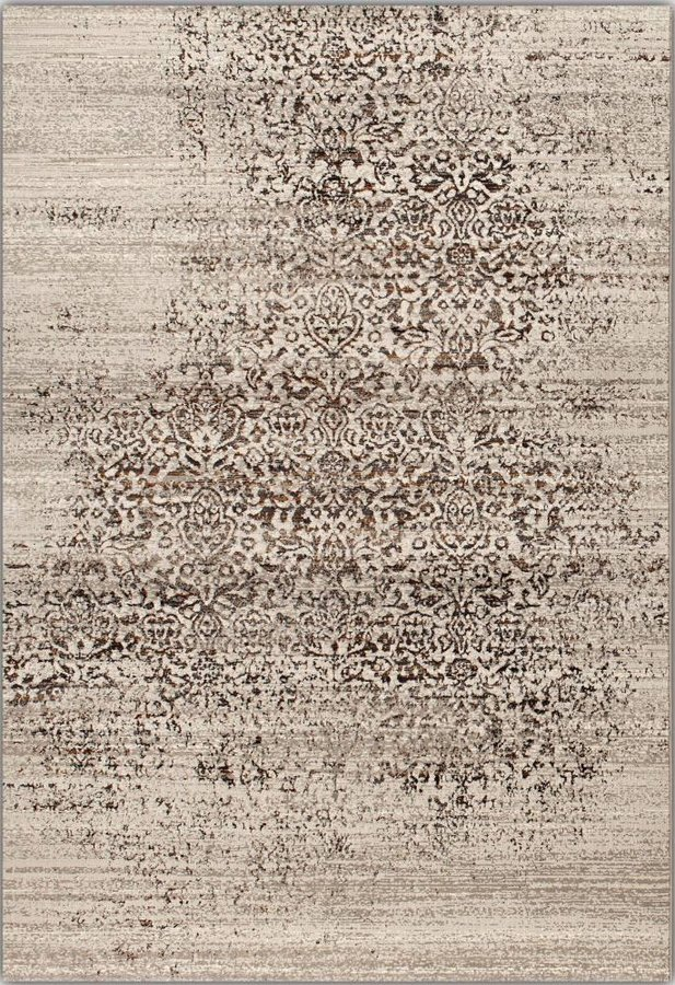 Antracitový kusový moderní koberec Patina