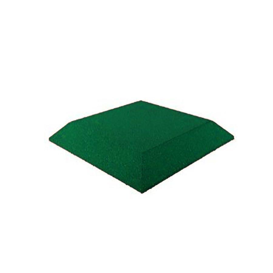 Zelená gumová krajová deska (roh) (V65/R00) - délka 50 cm, šířka 50 cm a výška 6,5 cm