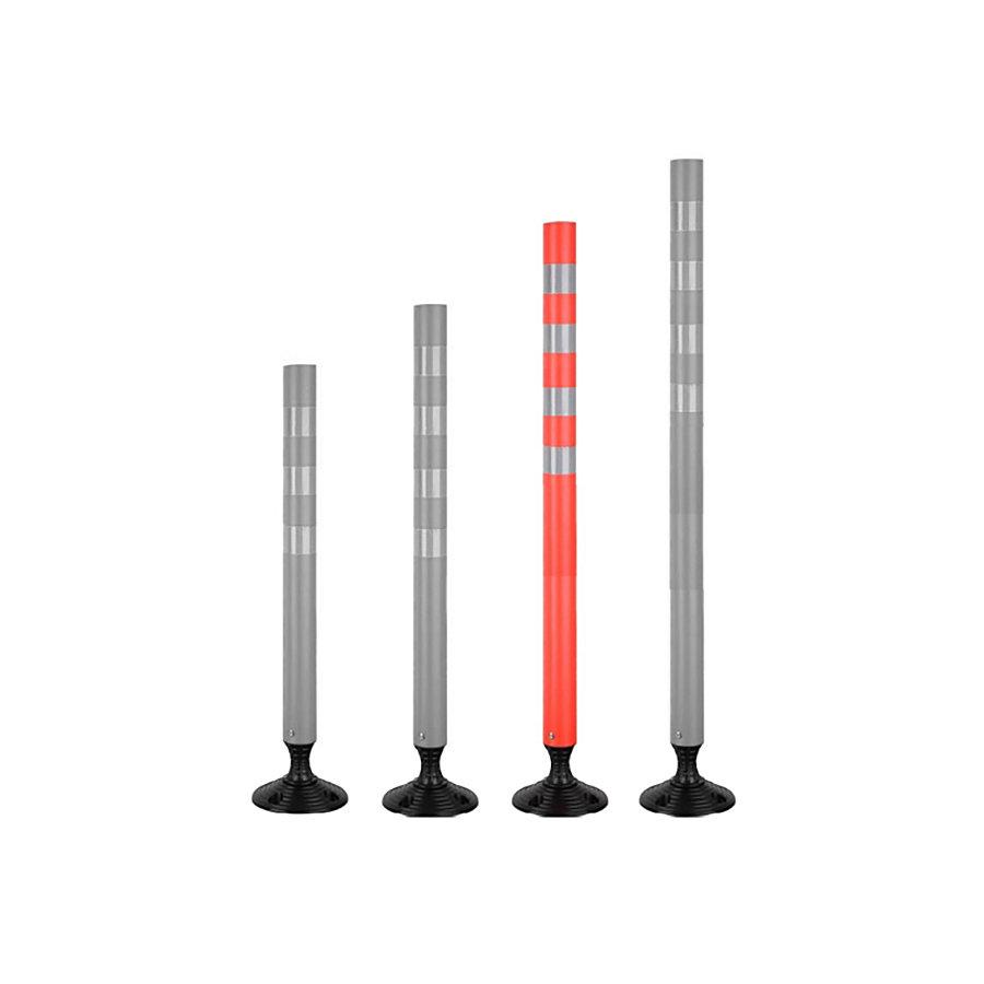Plastový samonarovnávací reflexní dopravní sloupek - průměr 7 cm a výška 105 cm
