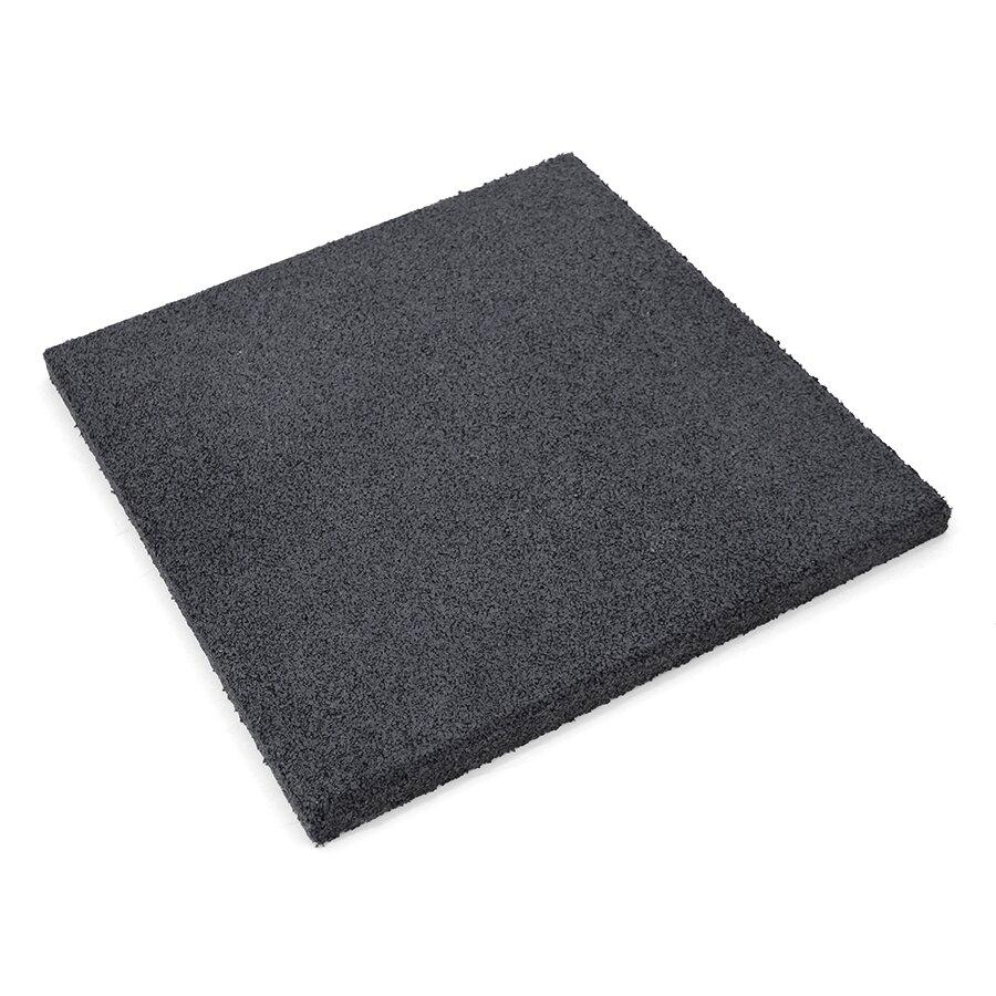 Černá gumová hladká dlažba (V20/R00) FLOMA - 50 x 50 x 2 cm