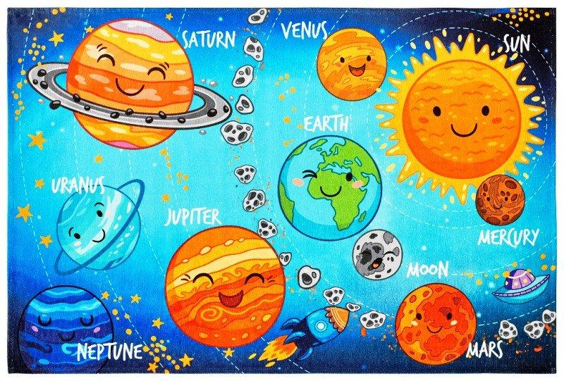 Různobarevný dětský hrací kusový koberec Torino Kids