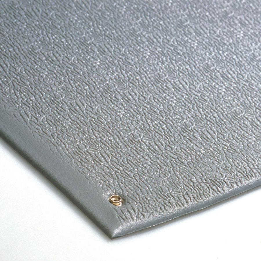Šedá průmyslová protiúnavová ESD antistatická metrážová rohož - šířka 90 cm a výška 0,9 cm