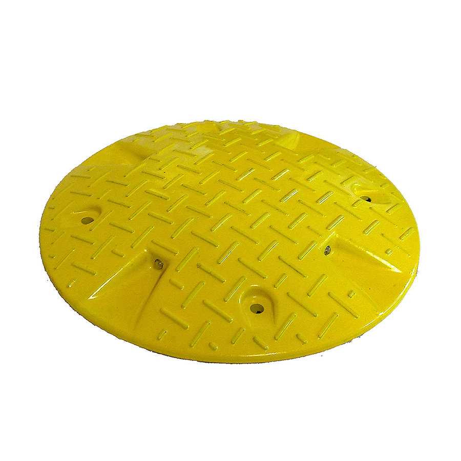 """Žlutý plastový zpomalovací """"polštář"""" - 20 km / hod"""