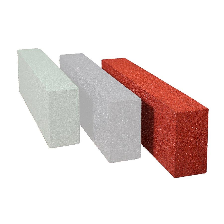 Červený gumový dopadový obrubník OB1 FLOMA - délka 100 cm, šířka 15 cm a výška 30 cm