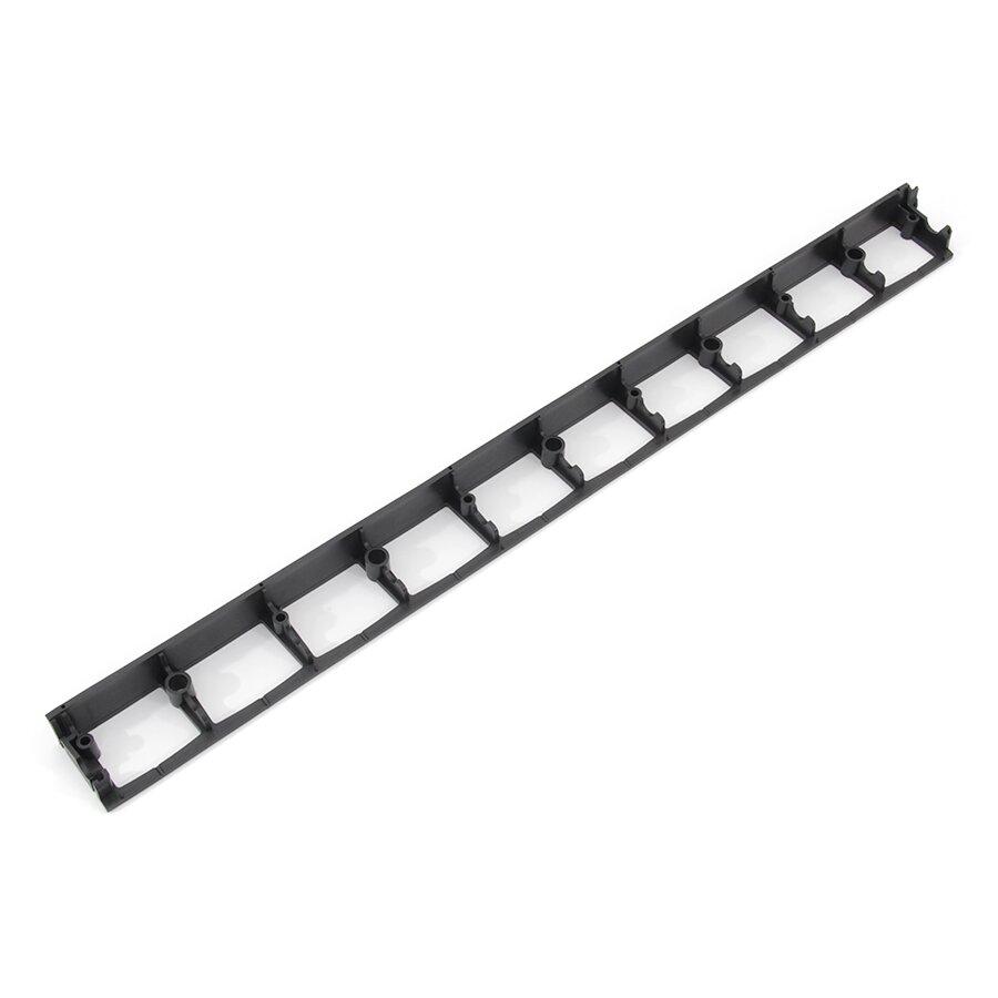 Černý plastový skrytý zahradní obrubník FLOMA Stella Bord - 100 x 8 x 4,5 cm