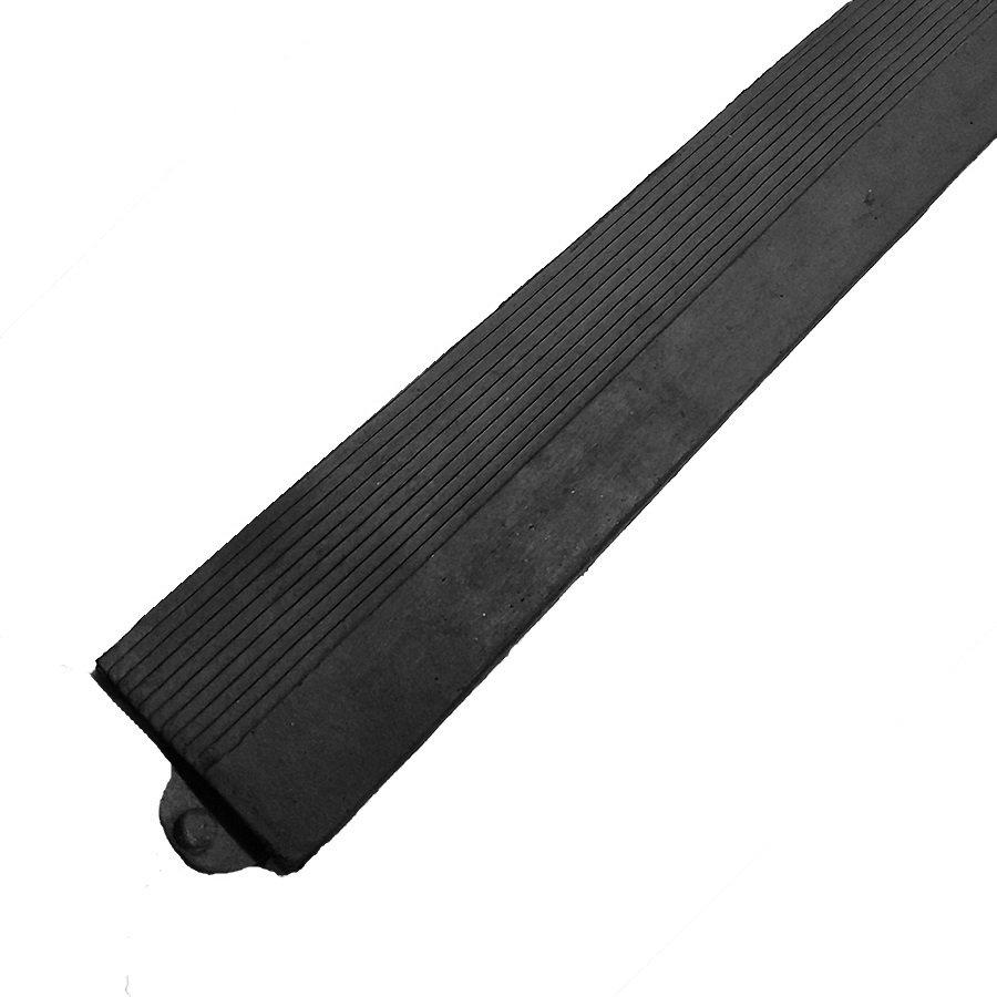 """Černá gumová náběhová hrana """"samice"""" pro rohož Diamond Plate Tile FLOMA - délka 98,5 cm a šířka 7,5 cm"""