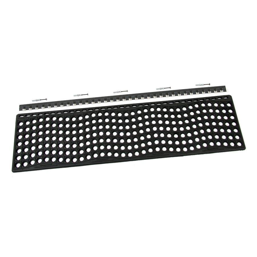 Gumová schodová rohož na hrubé nečistoty - délka 105 cm, šířka 29 cm a výška 1,2 cm