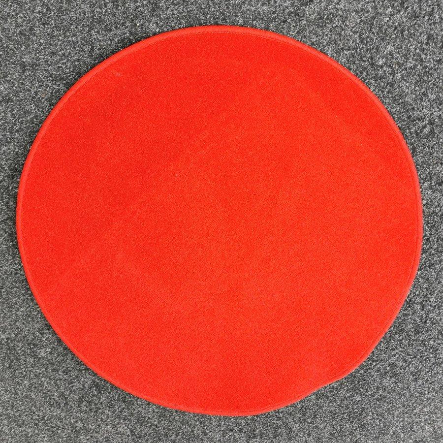 Červený kusový kulatý koberec Eton - průměr 80 cm
