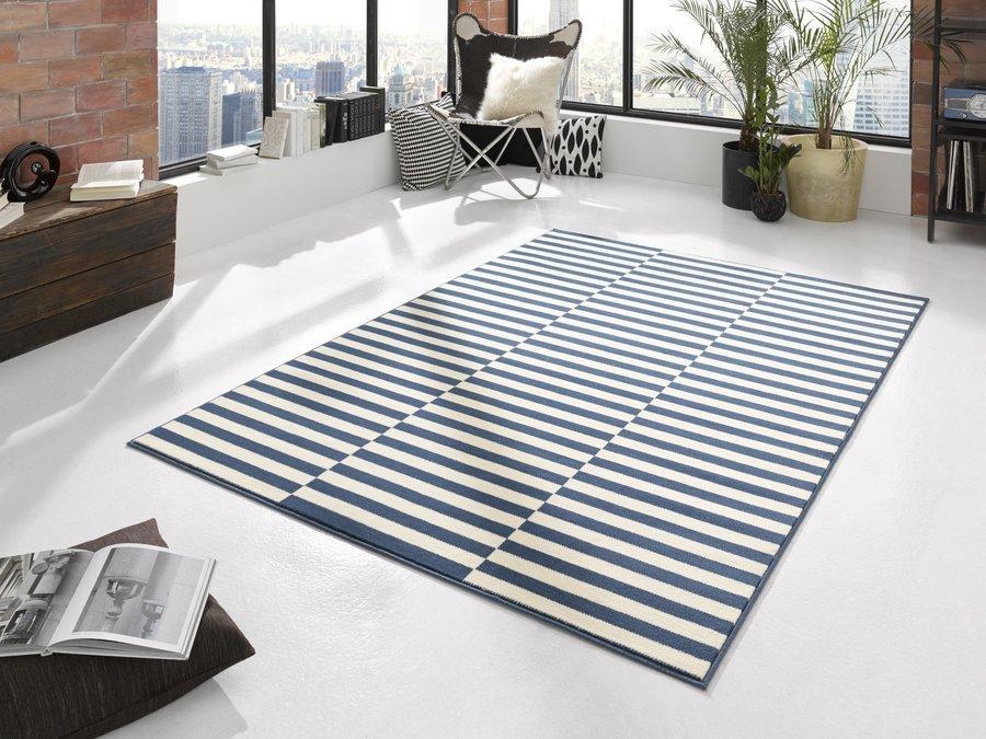 Modrý moderní kusový koberec běhoun Gloria - délka 300 cm a šířka 80 cm