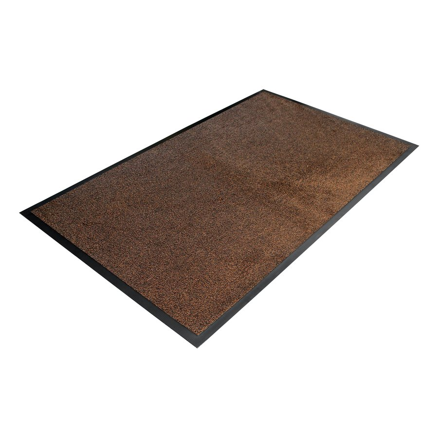 Hnědá textilní vstupní vnitřní čistící rohož - délka 85 cm, šířka 150 cm a výška 0,9 cm