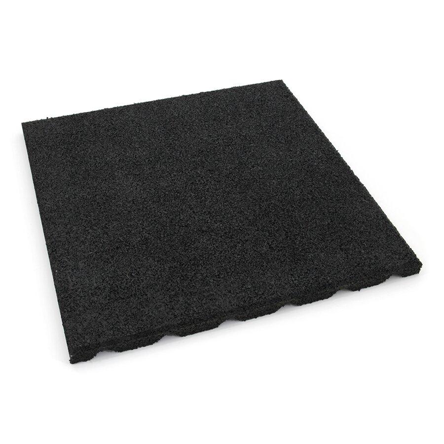 Černá gumová dlažba (V25/R15) FLOMA SportFlo S800 - 50 x 50 x 2,5 cm