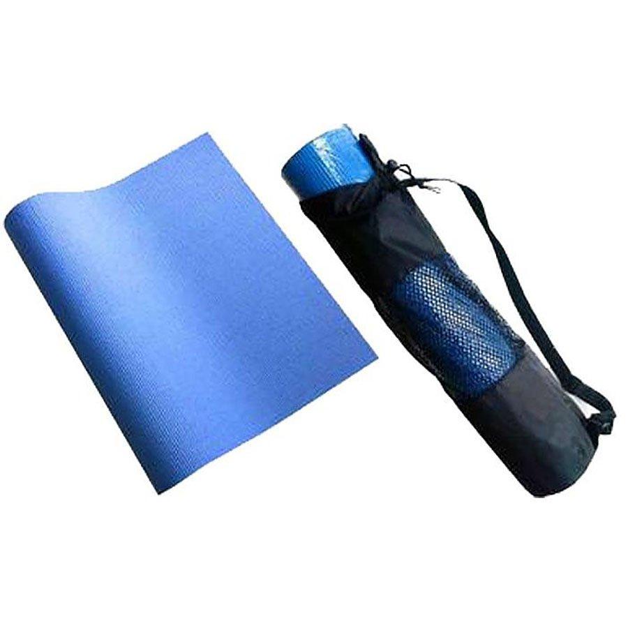 Modrá pěnová karimatka s obalem na cvičení - délka 172 cm, šířka 60 cm a výška 0,4 cm
