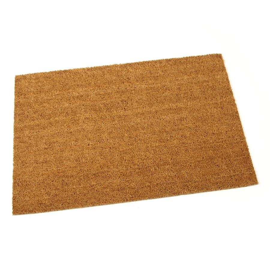 Kokosová čistící venkovní vnitřní vstupní přírodní rohož Dream - délka 90 cm, šířka 60 cm a výška 1,5 cm