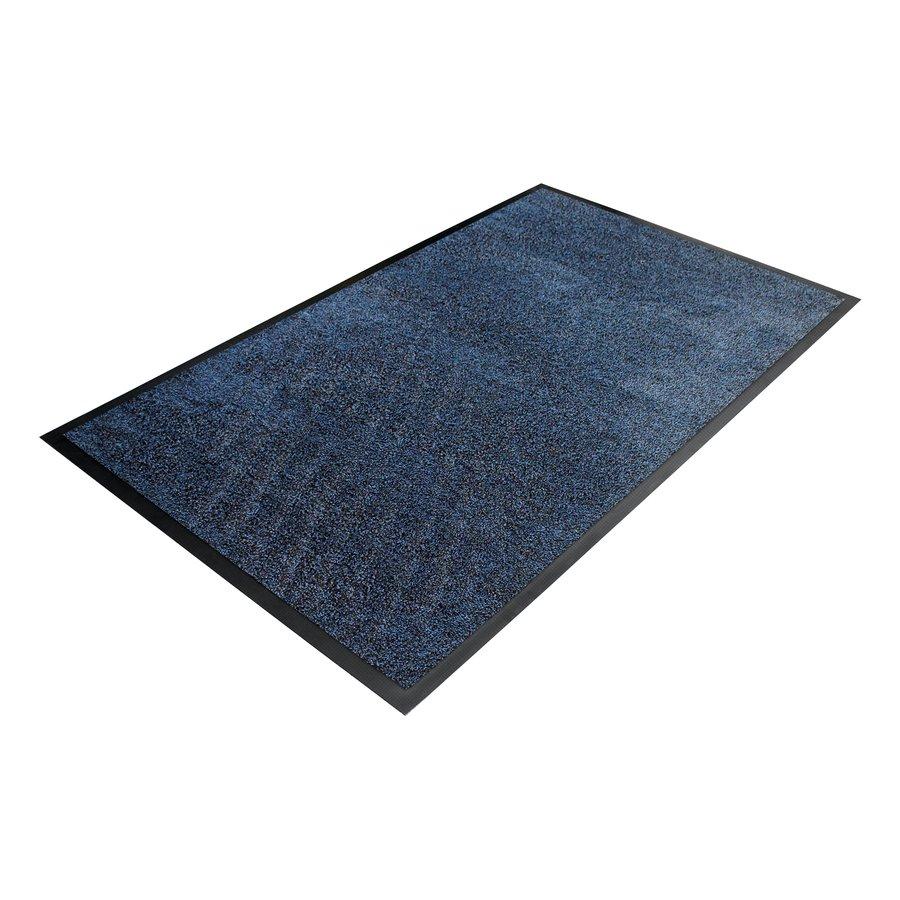 Modrá textilní vstupní vnitřní čistící rohož - délka 115 cm, šířka 175 cm a výška 0,9 cm