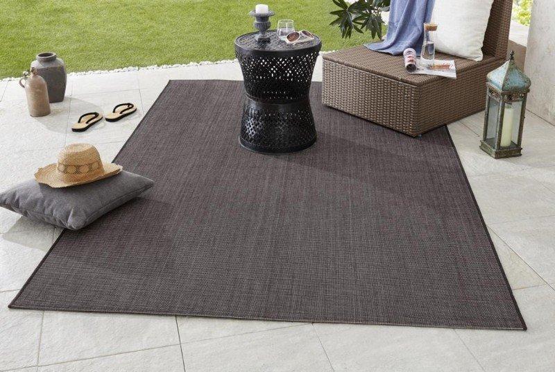 Černý moderní kusový koberec Meadow - délka 170 cm a šířka 120 cm