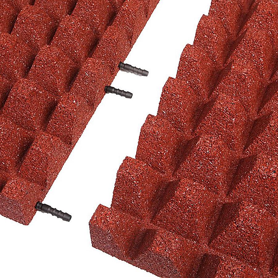 Červená gumová krajová deska (V65/R50) - délka 50 cm, šířka 25 cm a výška 6,5 cm
