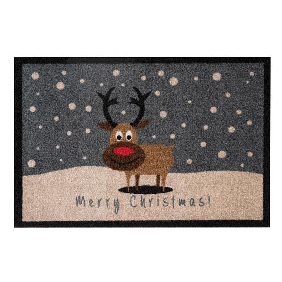 Vnitřní vstupní čistící rohož Merry Christmass - délka 64 cm, šířka 45 cm a výška 0,7 cm