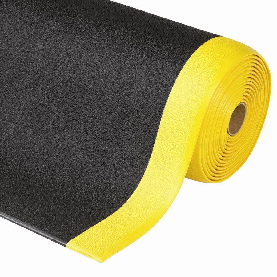 Černo-žlutá metrážová protiúnavová průmyslová rohož - výška 0,94 cm