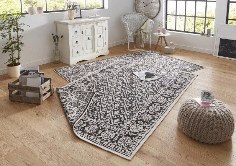 Bílý orientální kusový koberec běhoun - délka 350 cm a šířka 80 cm