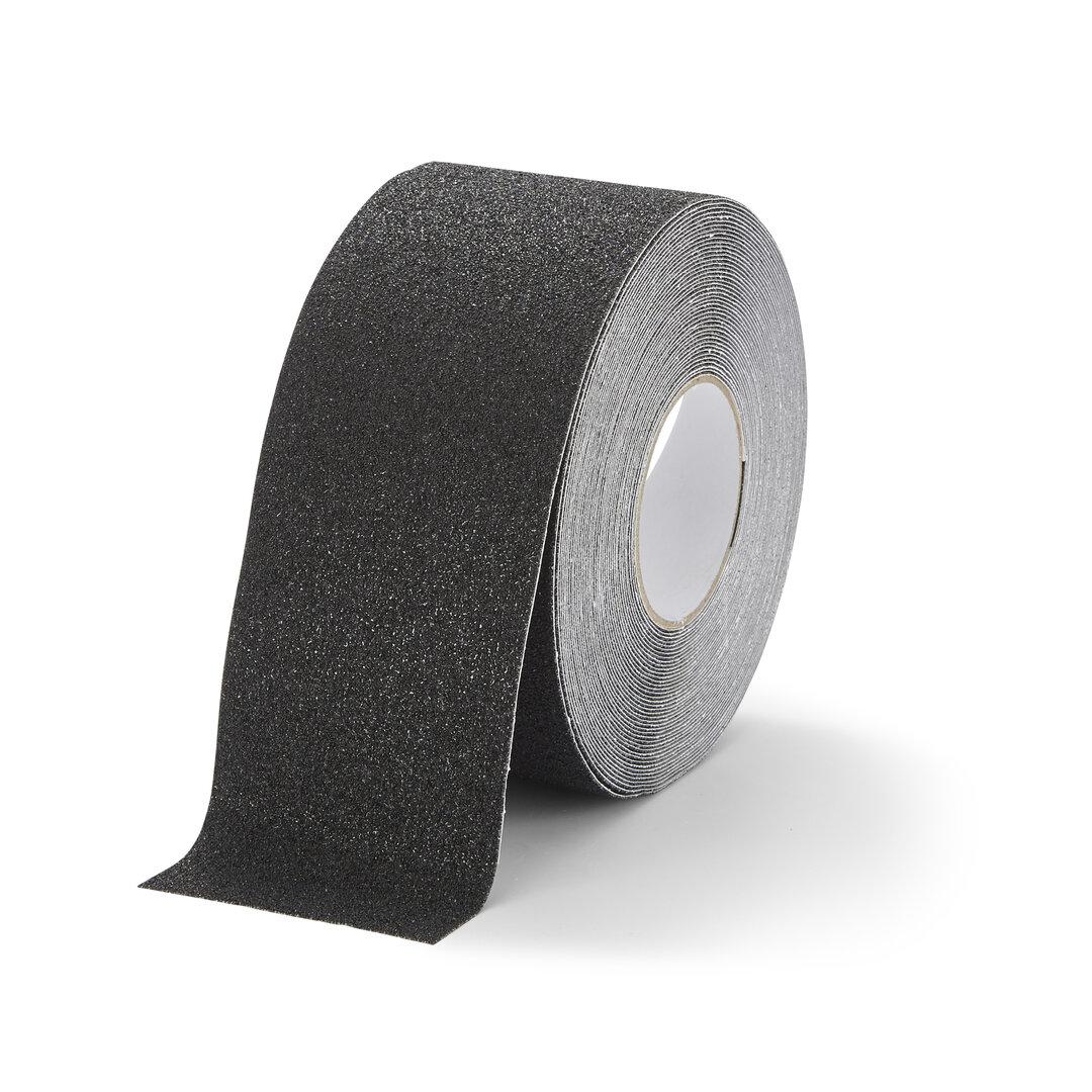 Černá korundová chemicky odolná podlahová páska Super - 18,3 m x 10 cm