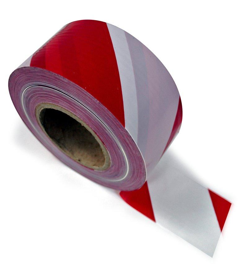Bílo-červená vytyčovací páska - délka 500 m a šířka 7,62 cm