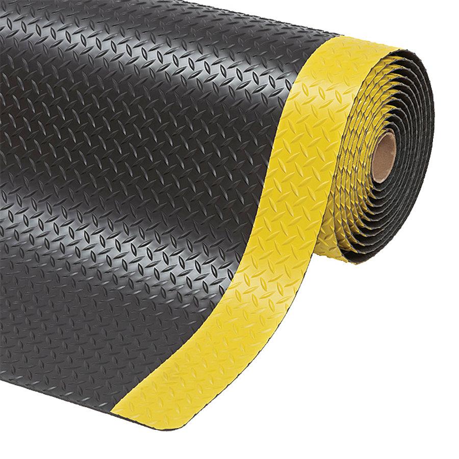 Černo-žlutá protiúnavová průmyslová laminovaná rohož (role) Saddle Trax - 22,8 m x 122 cm x 2,54 cm