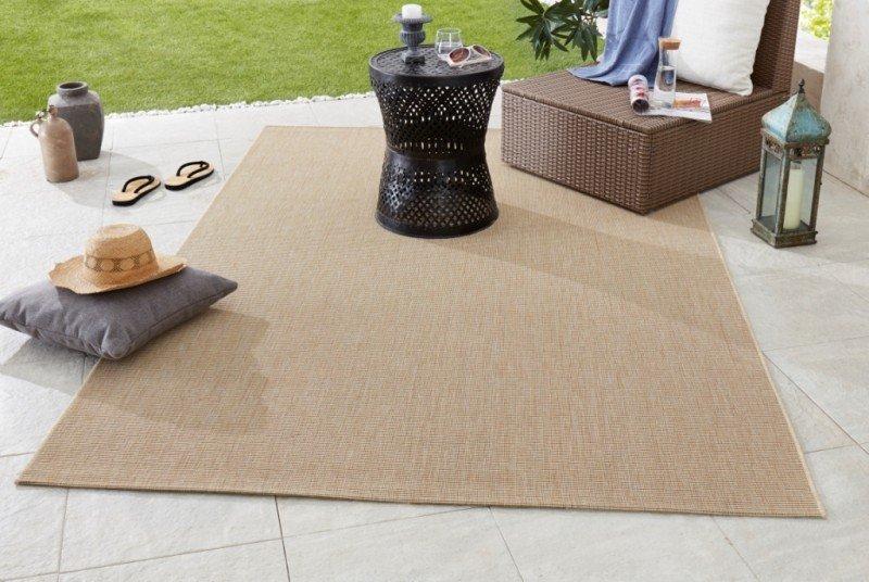 Béžový kusový koberec Meadow - délka 170 cm a šířka 120 cm