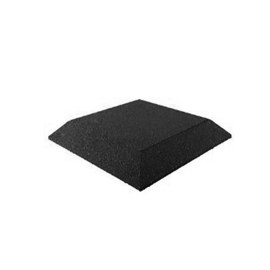 Černá gumová krajová deska (roh) (V65/R00) - délka 50 cm, šířka 50 cm a výška 6,5 cm